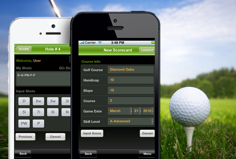 Mobile Golf Game ScoreCard
