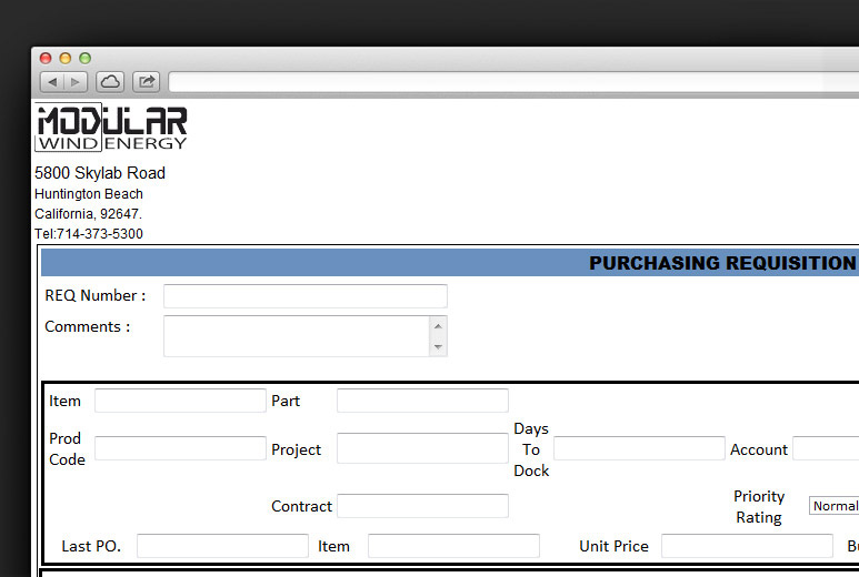 SharePoint Purchasing System Portal